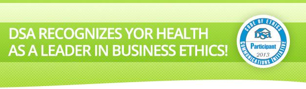 DSA Recognizes YOR Health