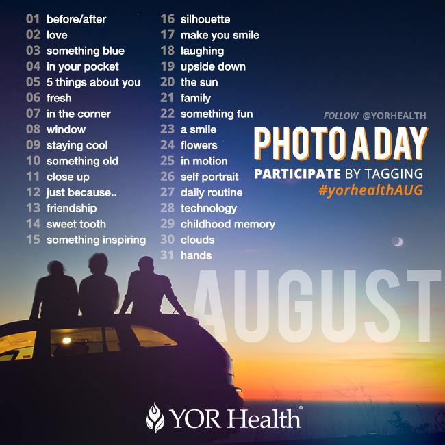 YOR Health Photo A Day August