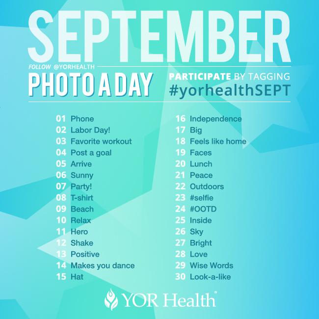 YOR Health Photo A Day September