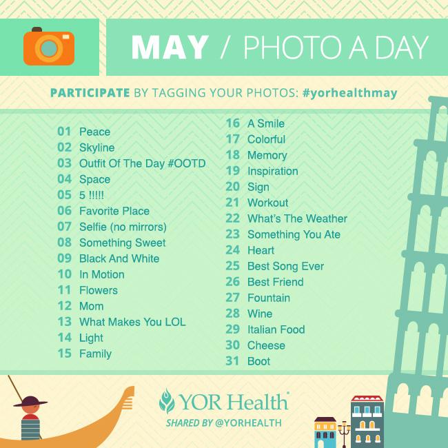 YOR Health Photo A Day May