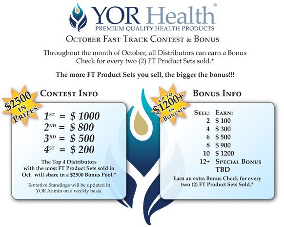 October Fast Track Contest