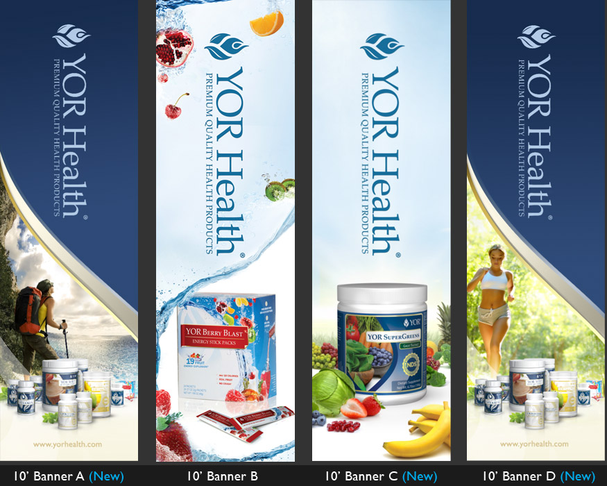 YOR Health: 10 foot banners Selection1