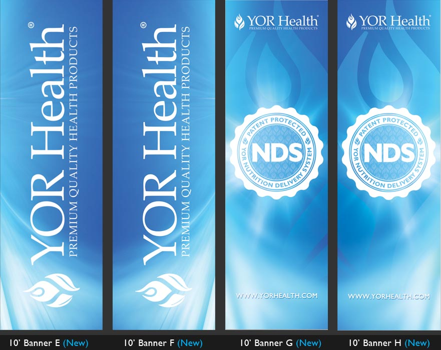 YOR Health: 10 foot banners Selection2