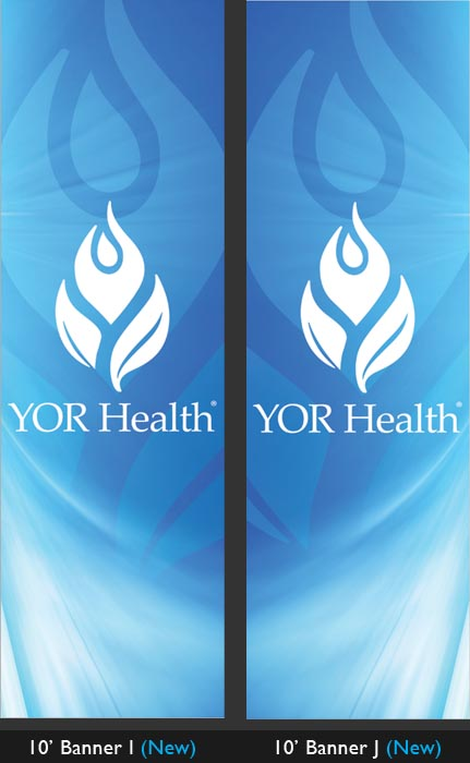 YOR Health: 10 foot banners Selection3