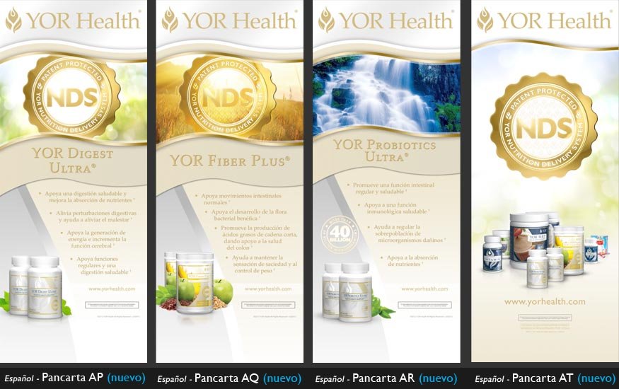 YOR Health 6.5 foot banners selection1