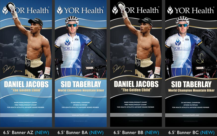 YOR Health 6.5 foot banners selection3
