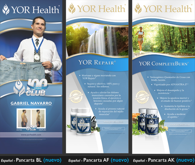 YOR Health 6.5 foot banners selection4