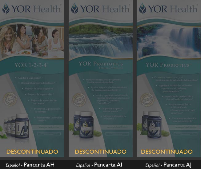YOR Health 6.5 foot banners selection5