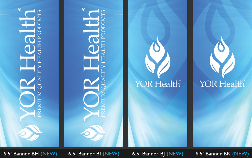 YOR Health 6.5 foot banners selection7